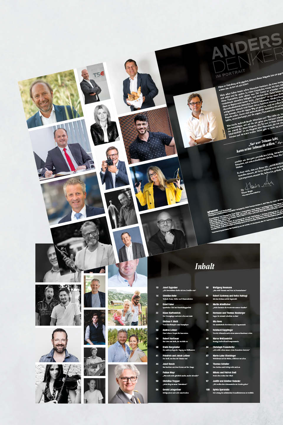 Magazin Andersdenker Inhalt Grafik Design