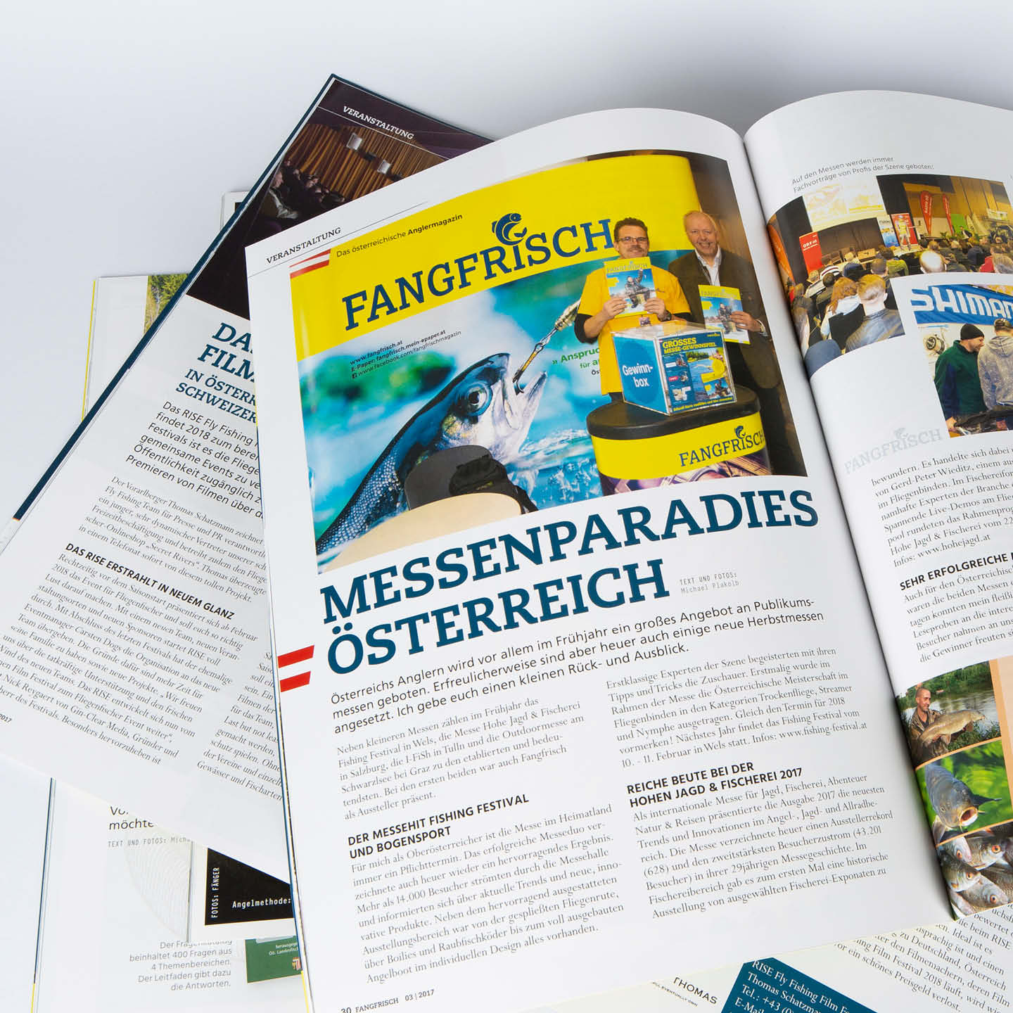 Fangfisch Magazin Grafikdesign Layout